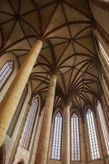 Interior of Basilica of St. Sernin in Toulouse, France