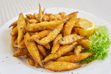 Small fried fish tapas