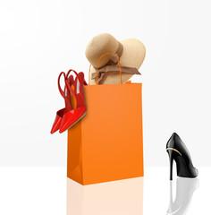 Borsina con scarpe e cappello