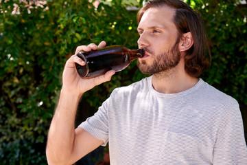 drinking man portrait