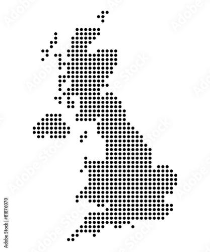 Map of United Kingdom - 81876070