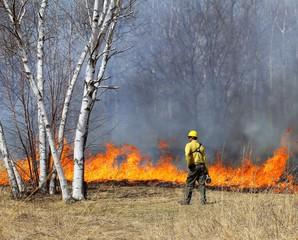 Prescribed Controlled Prairie Burn