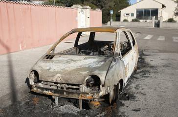 véhicule incendié