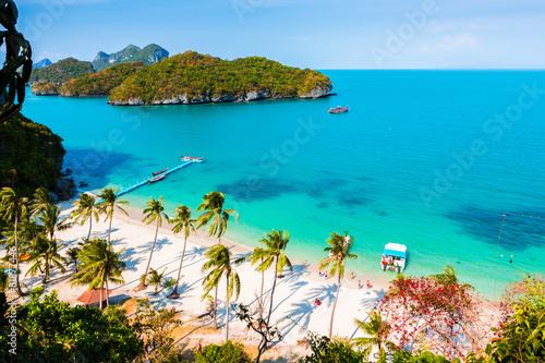 Leinwanddruck Bild Paradise beach on the island of Thailand.