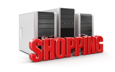 Computers and Shopping (clipping path included)