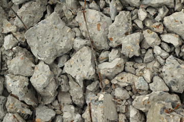 pile of rubble concrete abstract background