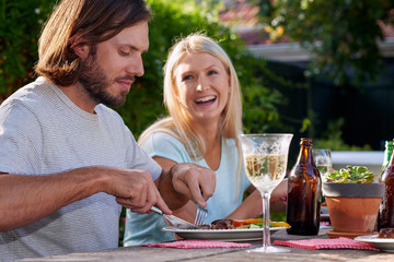 white wine couple