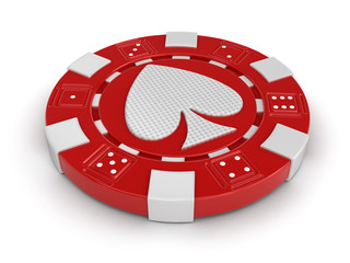 chip of casino (clipping path included)