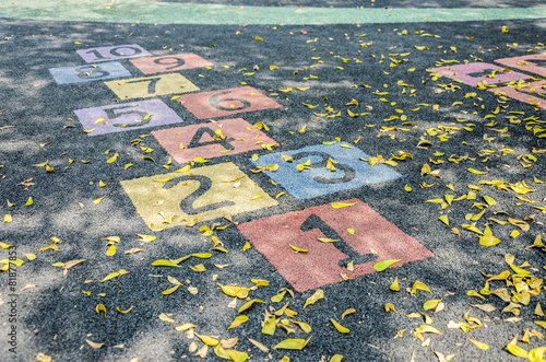 Zdjęcia na płótnie, fototapety, obrazy : Number on playground