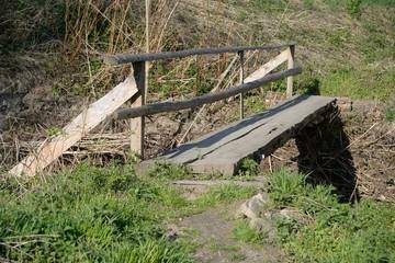 Holzsteg - Wooden footbridge