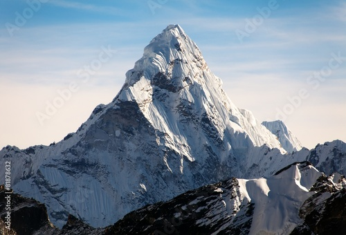 Fotobehang Nepal Ama Dablam on the way to Everest Base Camp