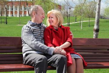 Portrait of a happy mature couple outdoors