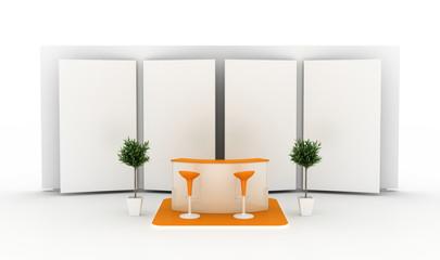 Orange trade stand