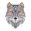 Tattoo head wolf wild beast of prey
