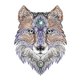 Tattoo head wolf wild beast of prey - 81879483