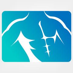 athletic men silhouettes, vector symbols
