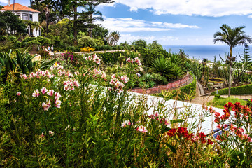 Tropical Botanical Gardens in Funchal, Madeira island, Portugal