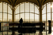 Leinwandbild Motiv Lonely in airport