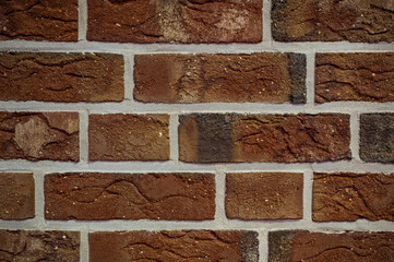 Texture of red brick wall background