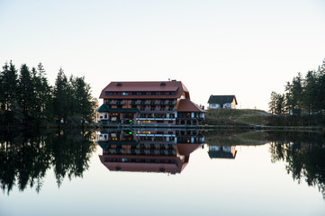Mummelsee mit Berghotel, Seebach