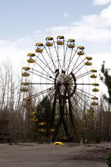 Ferris wheel in Pripyat ghost town, Chernobyl Nuclear Power Plan