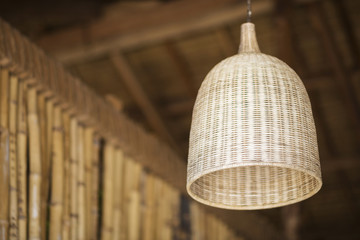 natural bamboo interior design lampshade detail