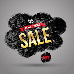 Doodle banner black friday sale.