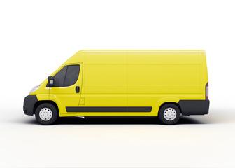 Lieferwagen oder Van, isoliert weiß