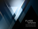 Vector abstract geometric background with triangle - 81881241