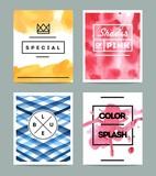 Fototapety set of beautiful artistic cards