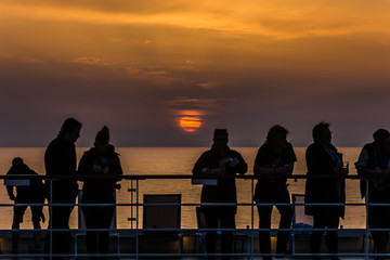 Sundown at the Mediterranean Sea