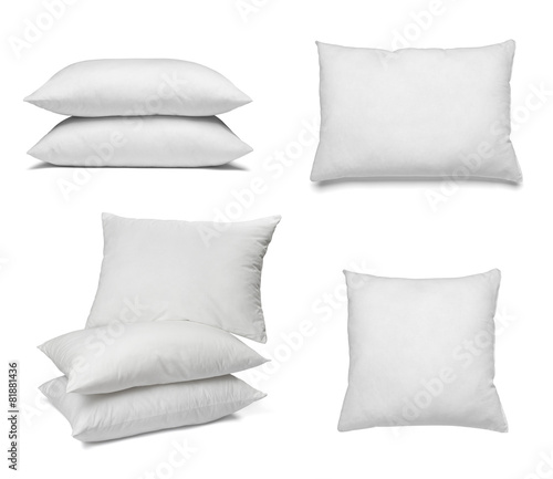 white pillow bedding sleep - 81881436