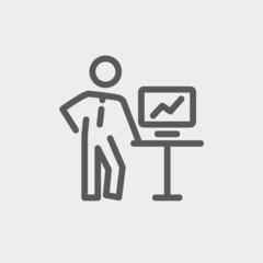 Business presentation thin line icon