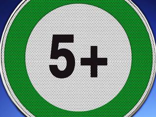 5+ grün