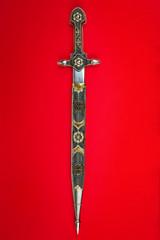 Inlaid antique dagger