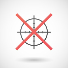 Not allowed icon with a crosshair