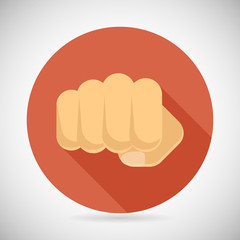 Punch Fist Hand Palm Icon Social Power Courage Determination
