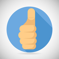 Thumbs up Hand Palm Pointing Finger Like Icon Social Media