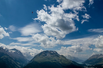 Paraglider in Ingadin, Switzerland