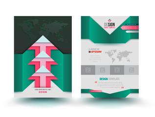 Vector brochure template modern design arrows.