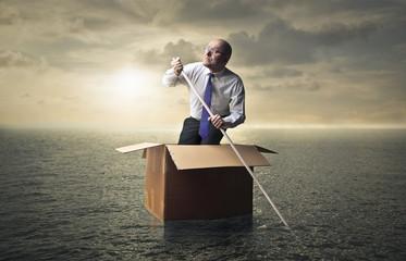 Man being adrift