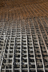 Steel bar structure for concrete fundaments
