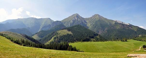 Panoramic view of the mountains, Belianske Tatras, Slovakia