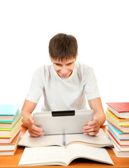 Student with Tablet Computer