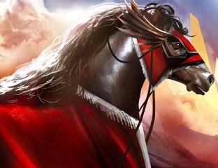 Battle horse art.
