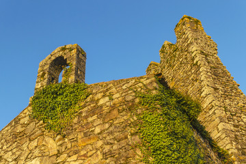 Bell toweer and battlements on Towers ruins