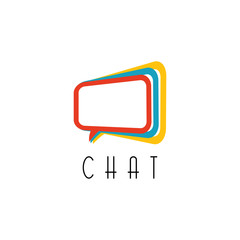 Chat logo, talking concept, idea social network technology sign