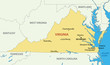 Commonwealth of Virginia - vector map