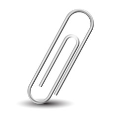Metal clip. Isolated. Vector.