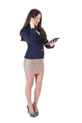 female executive talking on phone